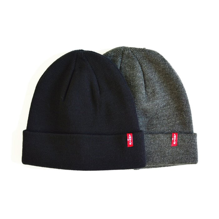 【 Wind 】美線 Levis ORIGINAL 小 LOGO 紅標 復古 針織 毛帽 圍巾 拆賣