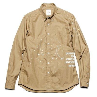 20SS Uniform Experiment DRIPPING B.D SHIRT 全新正品公司貨含運 現貨 UE 可刷卡分期 下標請詢問 潑漆