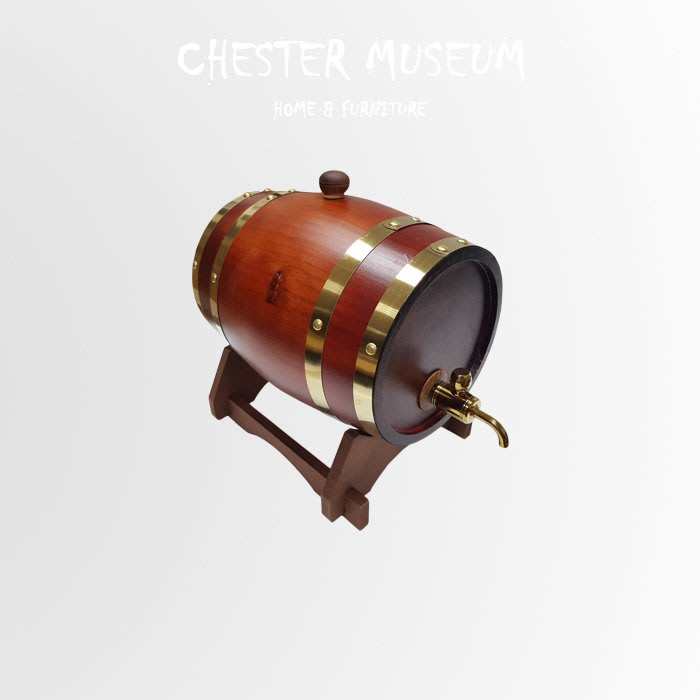 【現貨】茶色橡木酒桶 酒桶 啤酒桶 木桶 葡萄酒桶 橡木桶 橡木酒桶 賈斯特博物館