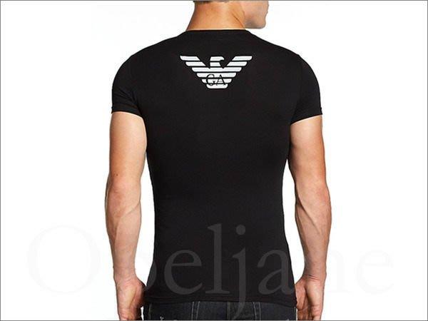 真品 Emporio Armani 阿曼尼黑色伸縮彈性舒適貼身短袖T恤盒裝S M號  免運費 愛Coach包包