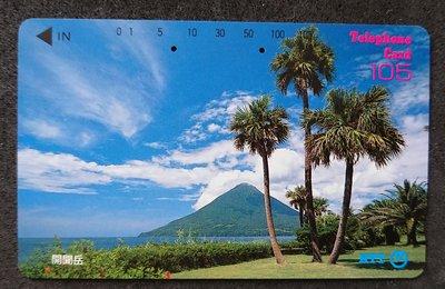 懷舊日本JR西日本鐵路卡車票 - 開聞岳 (車票已失效, 只供收藏)