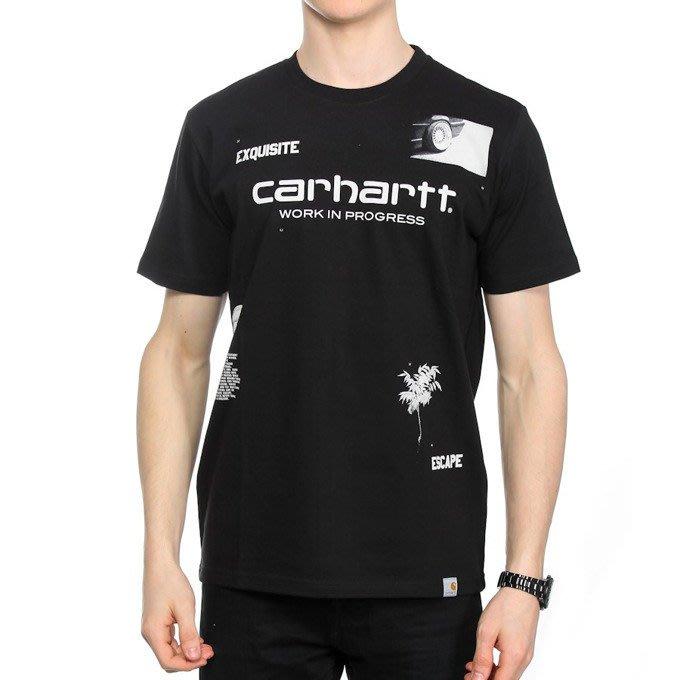 ☆AirRoom☆【現貨】CARHARTT WIP Koszulka Escape 短T LOGO 黑白 限定
