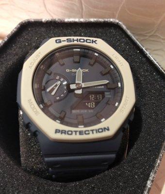藍灰全新 Casio G-Shock GA-2100-1A1 手錶 200米 防水 碳纖維 超薄 雙顯 AP 皇家橡樹