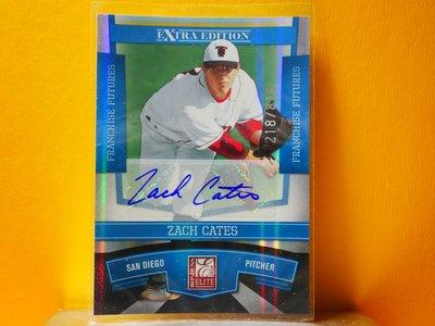 Zach Cates 2010 Donruss Elite Autograph 新人簽名卡 RC 限816