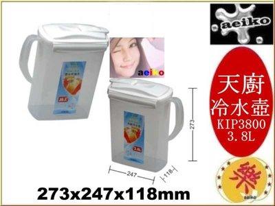 KIP-3800 天廚冷水壺 冷水壺 泡茶壺 3.8L KIP3800  直購價 aeiko 樂天生活倉庫