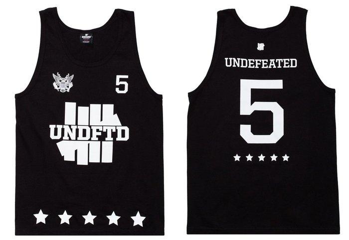 【超搶手】全新正品 夏季 UNDEFEATED 5ER TANK 柵欄LOGO 五角星 背心 黑白灰色 S M L XL