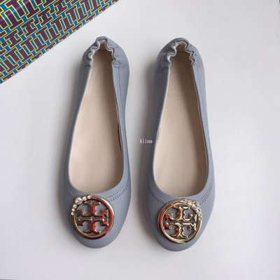Alina精品代購TORY BURCH 美國輕奢時尚 跳舞娃娃鞋 平底休閒鞋 顏色3  美國代購