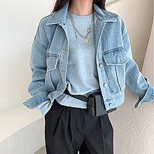 i-Mini 正韓|個性口袋造型淺藍短版牛仔外套|‧ 韓國連線‧代購‧空運【C01292255th】