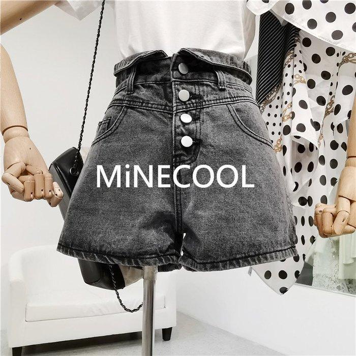 MiNE SHOP韓版花苞高腰顯瘦熱褲M9422-5 兩色 SML