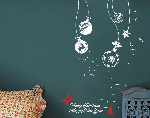 小妮子的家@聖誕球壁貼/牆貼/玻璃貼/磁磚貼/汽車貼/家具貼