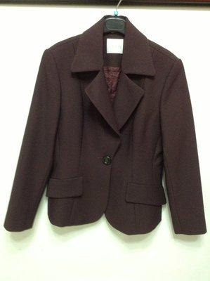 百貨專櫃 olivian 歐霓咖啡紫色長袖套裝  L 號