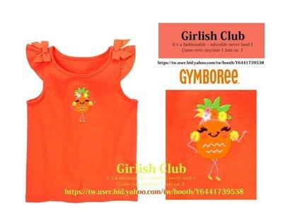 【Girlish Club】gymboree女童12-18m可愛鳯梨背心上衣(c221)carter's二六一元起標