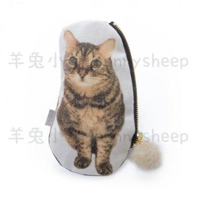 【日本製myalka貓咪立體尾巴眼鏡袋】A25804 羊兔小舖 日貨 貓咪包 眼鏡盒 萬用收納袋 禮物