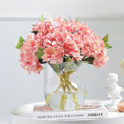 賓士印象~玻璃花瓶客廳擺件創意綠蘿水培花瓶仿真花插花藝電視柜酒柜裝飾品