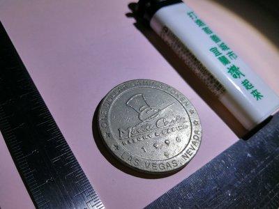 銘馨易拍重生網 107GM16 極少見 1996年 美國 拉斯維加斯 Monte Carlo 紀念幣章 保存如圖 讓藏
