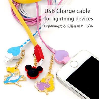 尼德斯Nydus~* 日本迪士尼 米奇 公主系列 Lightning iPhone 6/6S iPad iOS專用傳輸線
