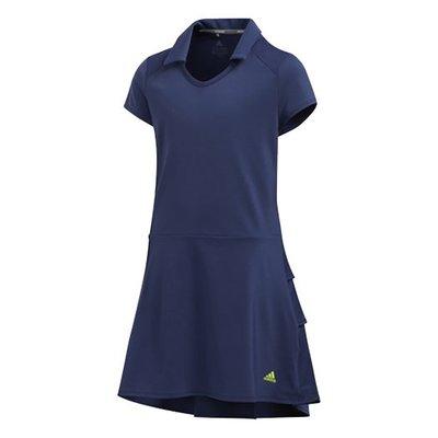[小鷹小舖] Adidas RUFFLED DRESS 阿迪達斯 高爾夫 小孩 青少年 連身裙 柔軟彈力面料 紫外線