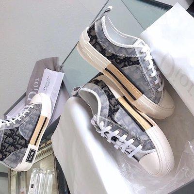 Dior鞋cd字母logo休閒鞋 明星同款 35-40 淺色 深色