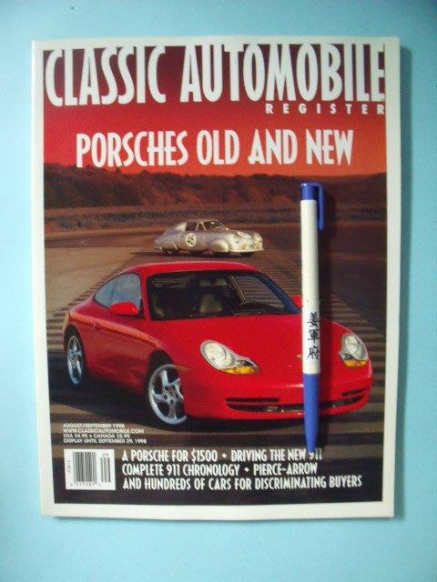 【姜軍府】《CLASSIC AUTOMOBILE REGISTER PORSCHES OLD AND NEW》保時捷雜誌