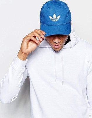 【Admonish】 adidas Trefoil Cap 愛迪達 復古 老帽 鴨舌帽 90s 彎帽 棒球帽 水藍