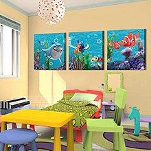 【厚2.5cm】鯊魚海底世界-客廳現代簡約裝飾畫無框畫【190114_631】【70*70cm】1套價