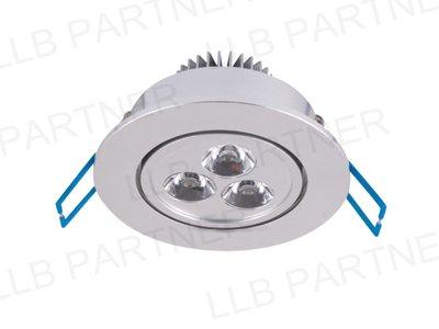 ~DL~003W01~Y~ LED 3W 銀邊 含電源 崁燈 天花燈 開孔7~8CM 取代 MR16 黃光