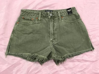 【天普小棧】Abercrombie A&F High Rise Girlfriend Jean Shorts高腰牛仔短褲