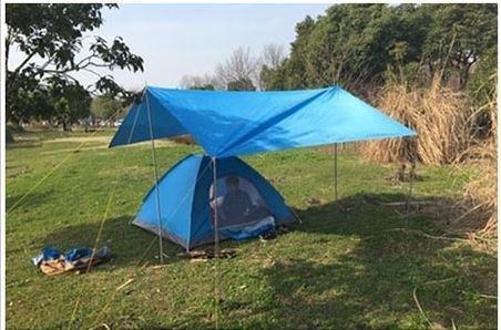 大尺寸 多功能 3.5米*6米 PE天幕帳 抗UV 地墊 帆布 防曬 遮陽 遮雨 防水雨棚 露營 防雨篷布