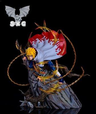 逝去的青春 共存GKSXG 波風水門四代黃色閃光 火影忍者GK 限量雕像手辦模型商品限量可預訂請聯繫賣家@追夢