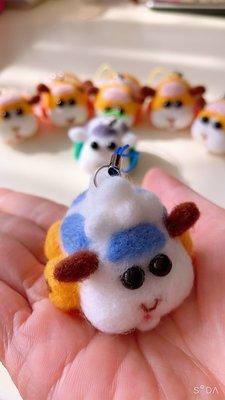 羊毛氈成品 -天竺鼠車車 阿比