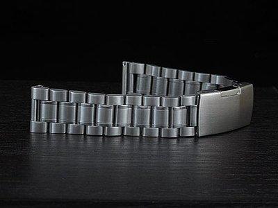 超值類似亞米家sea master海馬風格20mm平頭實心不鏽鋼製錶帶speed master