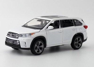 JACKIEKIM玩具合金汽車模型1:32 Toyota Highlander RAV4 聲光SUV迴力開門