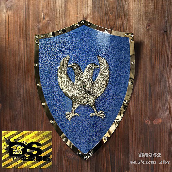 DS北歐家飾§loft工業風古羅馬盾牌藍鷹壁飾掛飾玄關壁掛酒吧仿舊復古美式鄉村 中世紀帝國