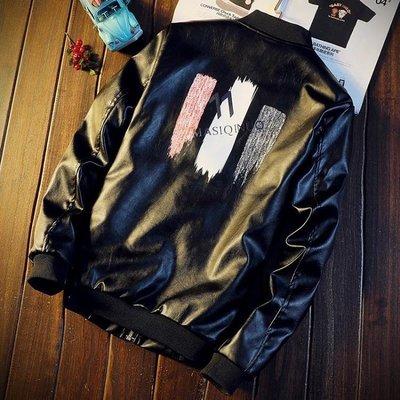 ZIHOPE 新款秋季男士皮衣青年修身韓版潮流帥氣春秋皮夾克機車外套男ZI812
