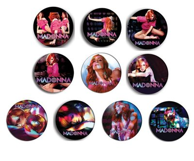現貨 MADONNA Confessions On A Dance Floor pinback BADGE SET 1a 襟章 徽章 (一套10個)