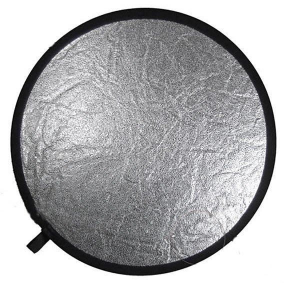 呈現攝影-二合1顆粒銀反光板 專業高品質 大型110cm 顆粒銀+白 收納帶x1 人像達人首選