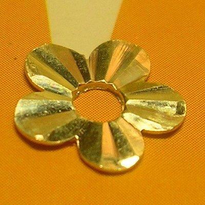琥珀貓~【925純銀材料配件】銀片造型圈~五瓣花~一組2個