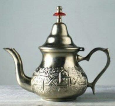 16鍍銀摩洛哥壺 Silver plate teapot