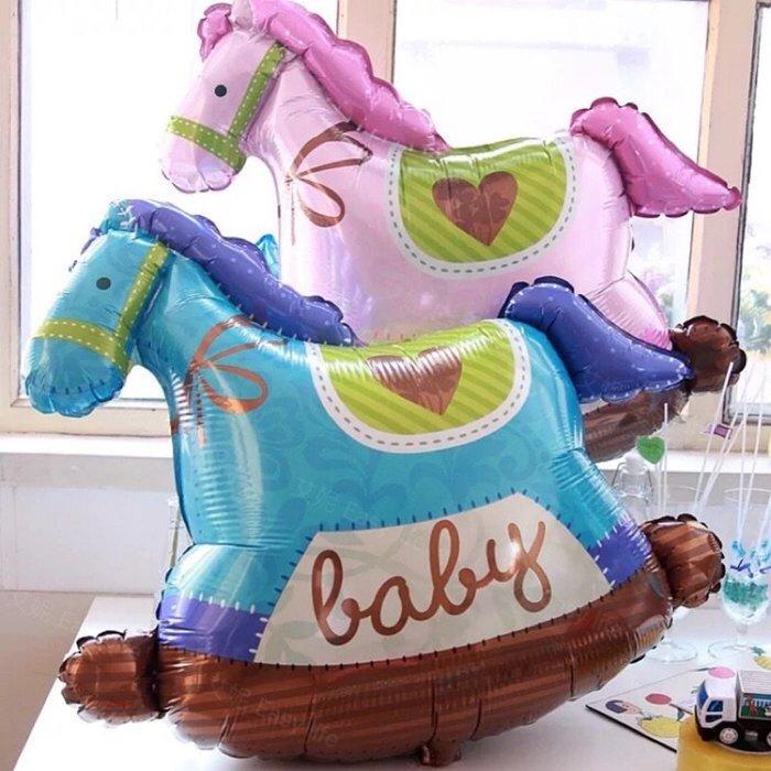 ◎艾妮 EasyParty ◎ 現貨🎈【造型氣球】可愛木馬 氣球 寶寶周歲 佈置氣球 生日派對 週歲