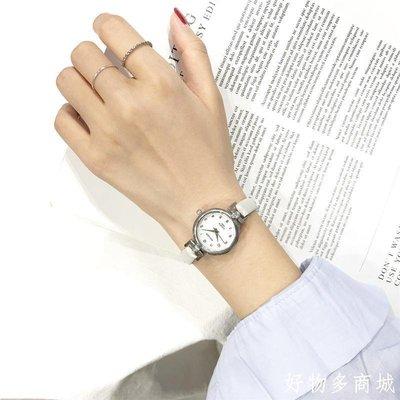 好物多商城 ins風手表女初中學生韓版簡約細帶ulzzang皮帶小表盤可愛小清新款