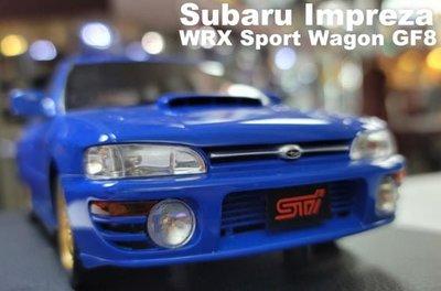 模型車收藏家。Subaru Impreza WRX Sport Wagon GF8。原盒