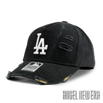 【PD帽饰】【MLB Old Fashioned Cap】LA 道奇 經典黑 破壞布 卡車帽 老帽【ANGEL NEW ERA 】