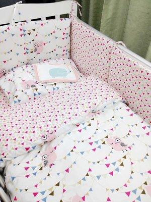 現貨日雜zakka宜家ikea北歐風格 寶寶嬰兒可愛床圍 貓頭鷹