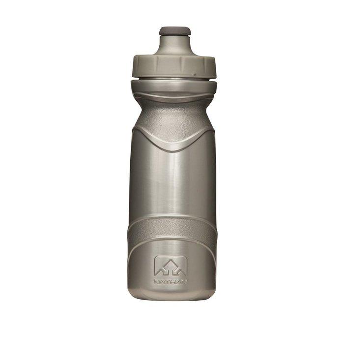 騎跑泳者-NATHAN 650ml水瓶(銀色),適Triangle/NA4465NB 水壺腰包,自行車水壺架(不含腰包)