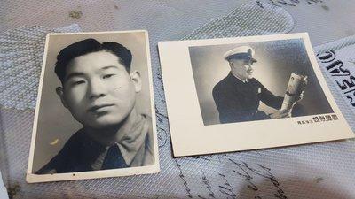 早期軍人黑白照片 共兩張