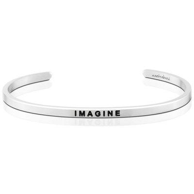 MANTRABAND Imagine 想像力 就是創造力 銀色手環