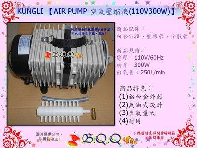 [B.Q.Q小舖]KUNGLI 【AIR PUMP 空氣壓縮機(110V 300W)】大型打氣幫浦/鼓風機
