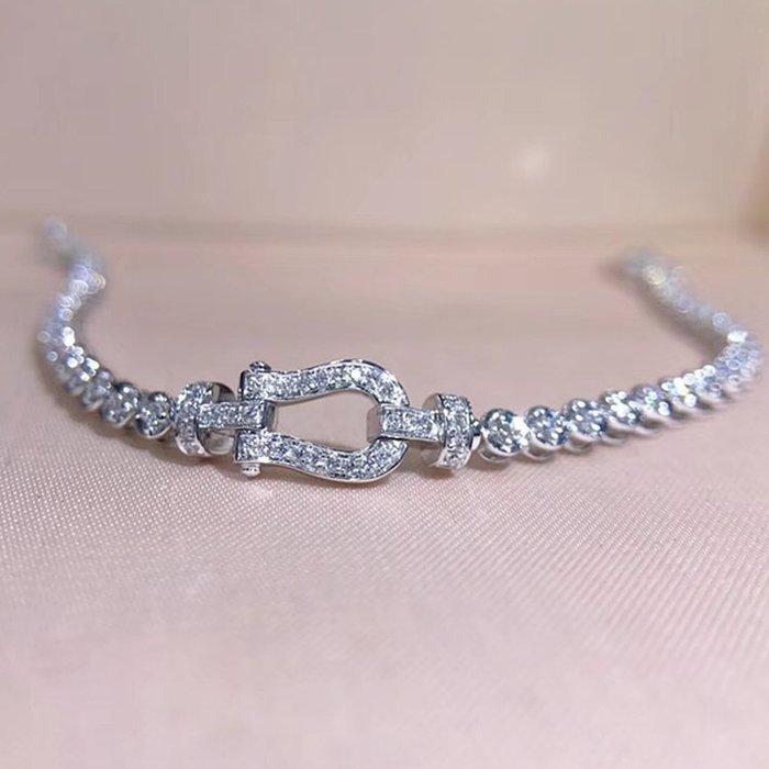 低調奢華天然鑽石手鍊