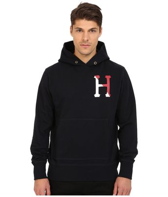 = Church = HUF 15HD-FL54006 TWO TONED CLASSIC H PULLOVER BLK