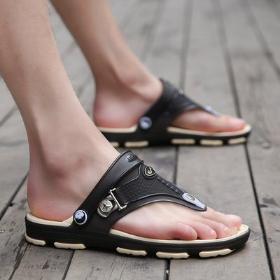 【新款】新款拖鞋廠傢批發夏季男士大碼涼鞋時尚休閑透氣沙灘鞋兩用涼沙灘